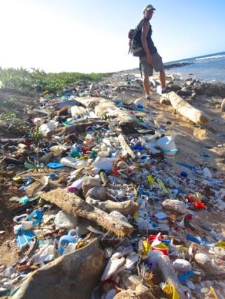 ... aber schockierend das ganze Plastik zu sehen welches einfach vom Meer an Land gespuckt wird.