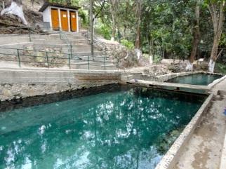 Aguas Termales in Grasias - heiße Quellen bei einer Lufttemperatur von 33 Grad! haha.. :-)